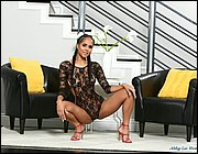 Hot Latina model Abby Lee Brazil strips off her onesie for nude office posing № 1365128  скачать