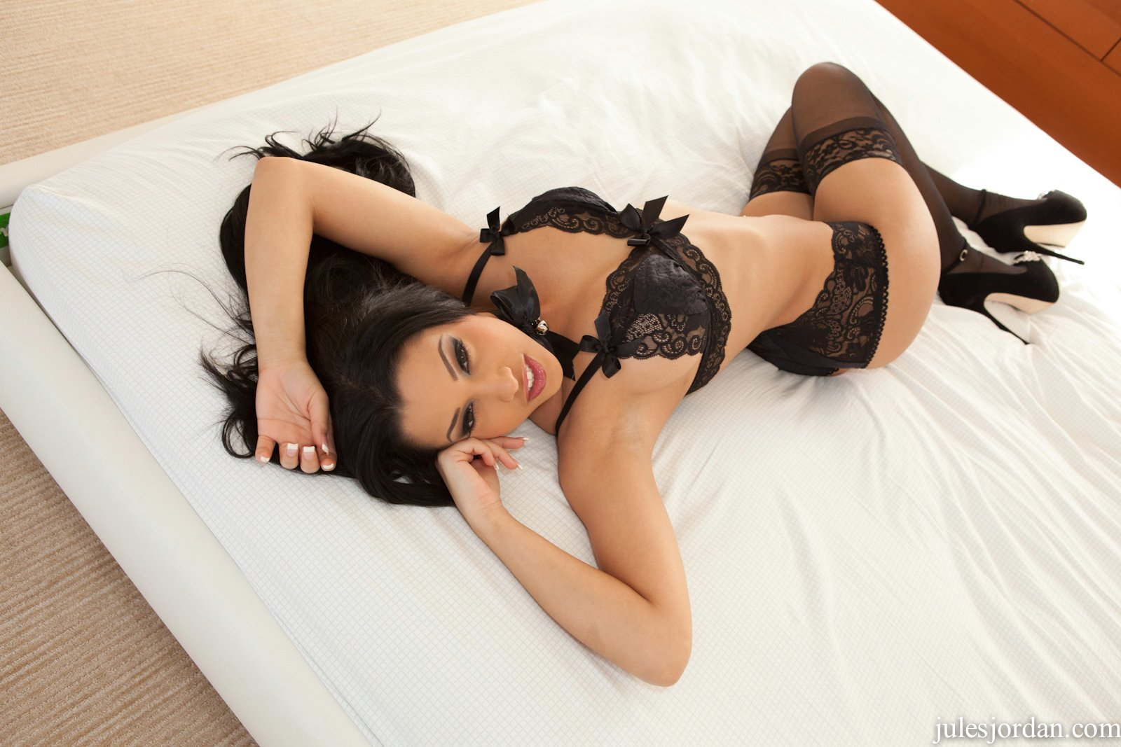 stockings Abella anderson in