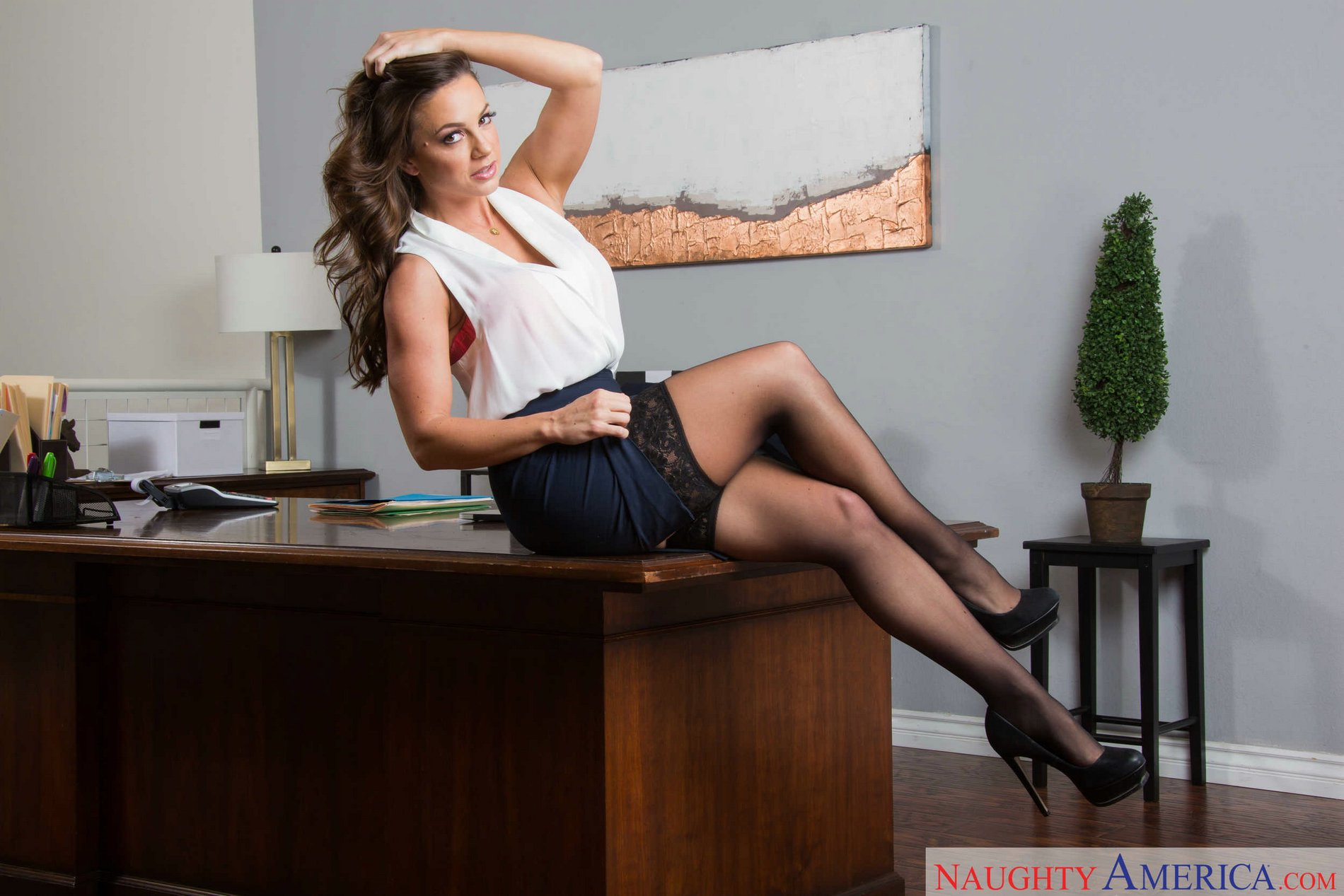 Sexy office stockings something
