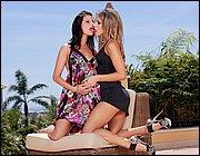 Hot chicks Megan and Aleska Diamond explore lesbian sex on the patio № 1306146  скачать