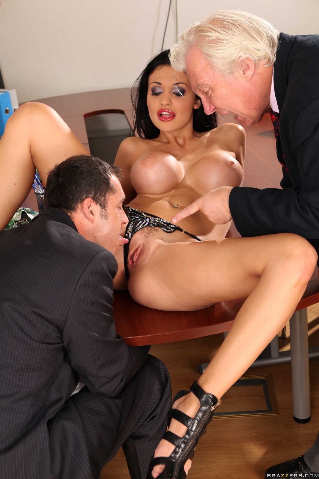 classy lady aletta ocean gets fucked by handsome guy in