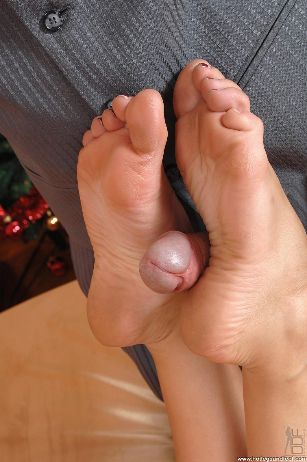 Blowjob and footjob