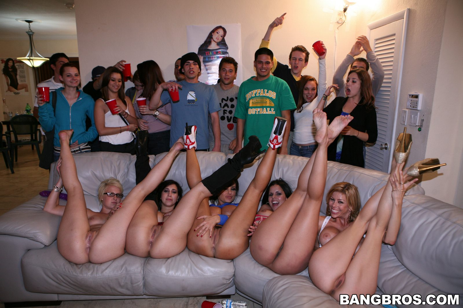 College Sex Party With Four Naughty Pornstars