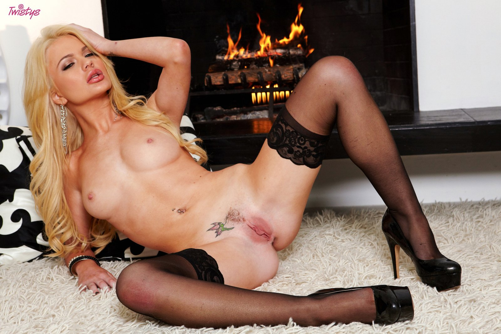 Alexis silver posing in stockings all personal