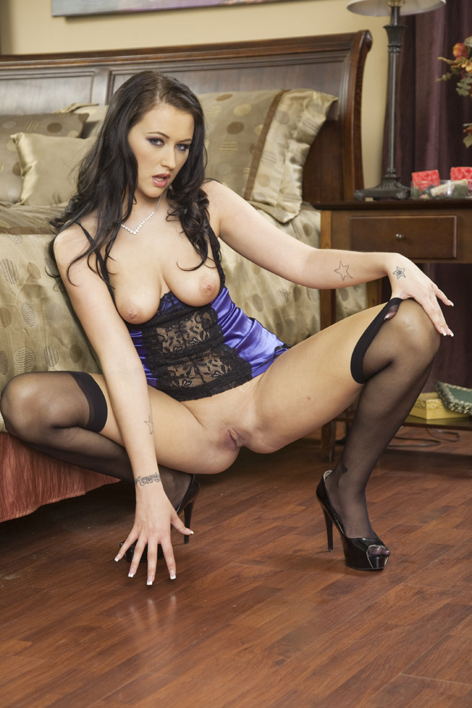 Alexis grace in sexy sexy pegging w lance hart nylons boobs 8