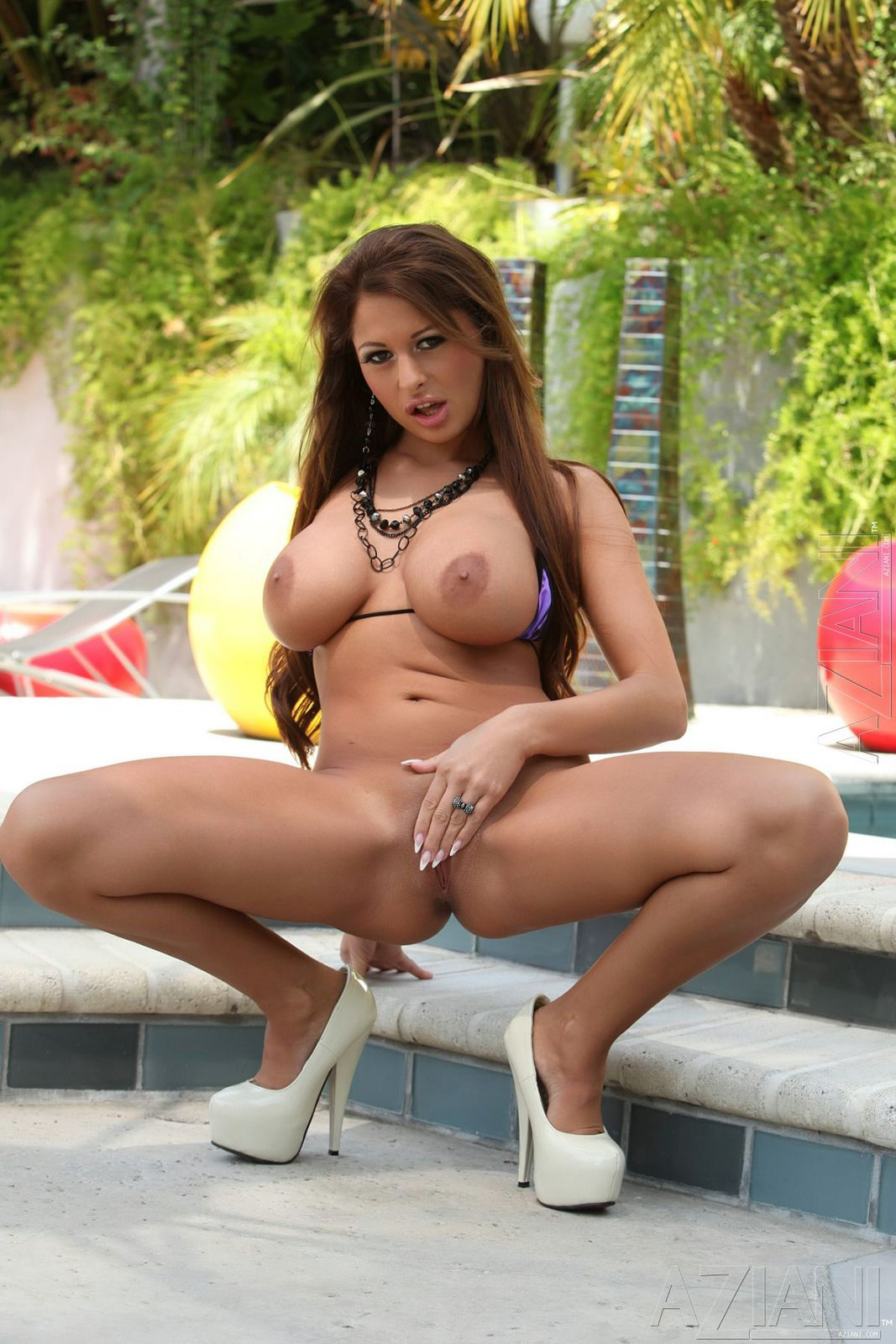 Busty bikini beauty Alison Star posing for your pleasure ...
