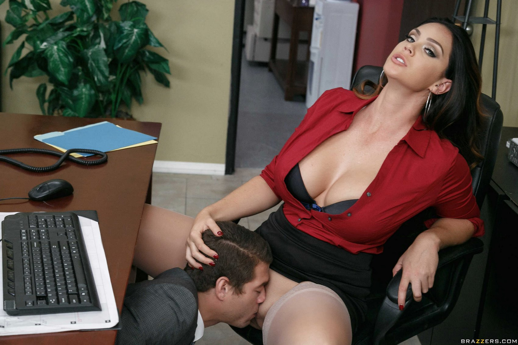Naughty busty secretary Alison Tyler gets fucked in the ...