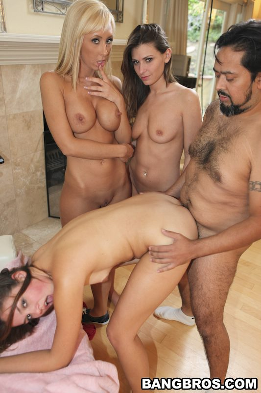 Allie Haze, Jessica Lynn and Victoria Lawson fucking three ...