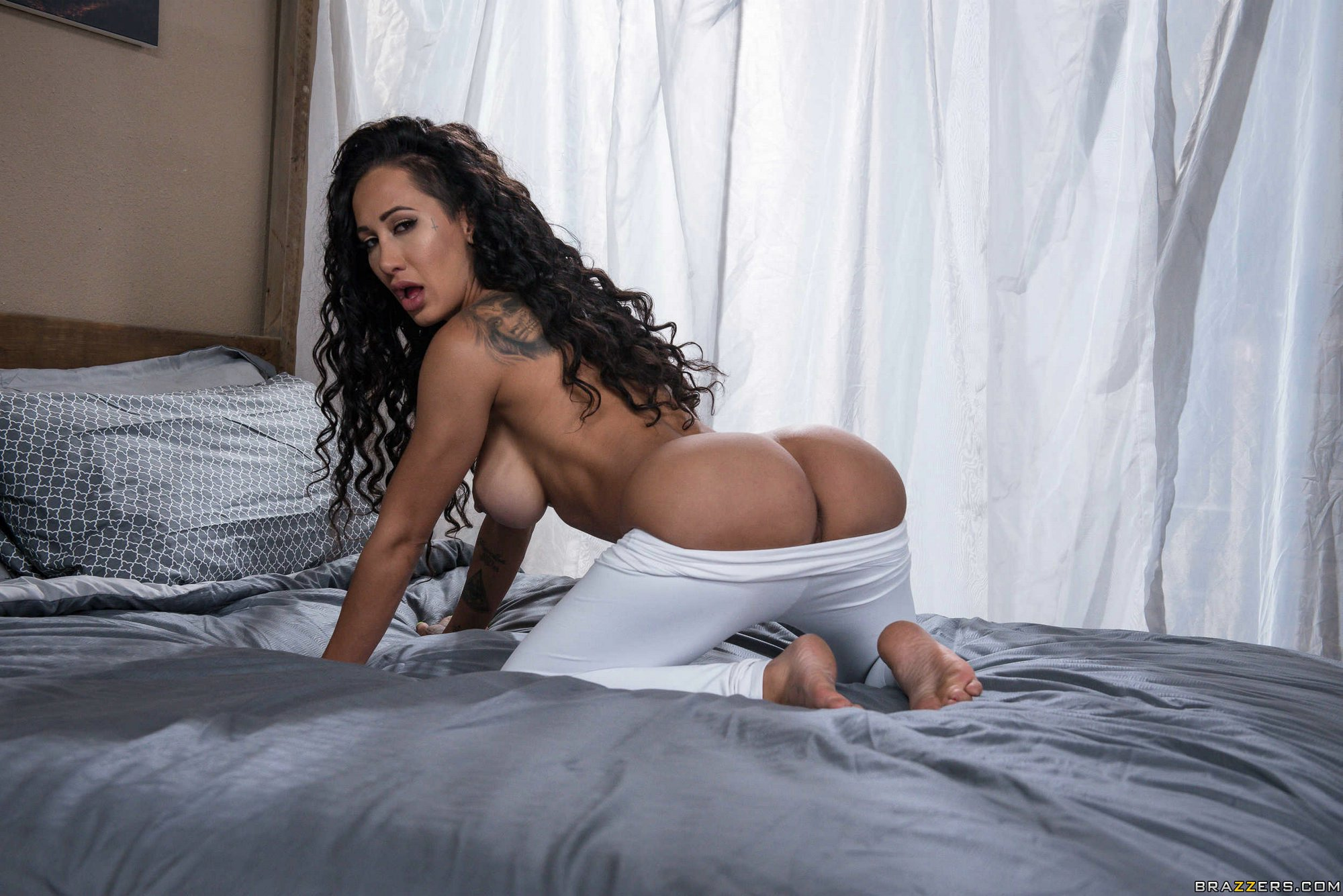 Amia Miley Nude amia miley strips off her white yoga pants and poses naked