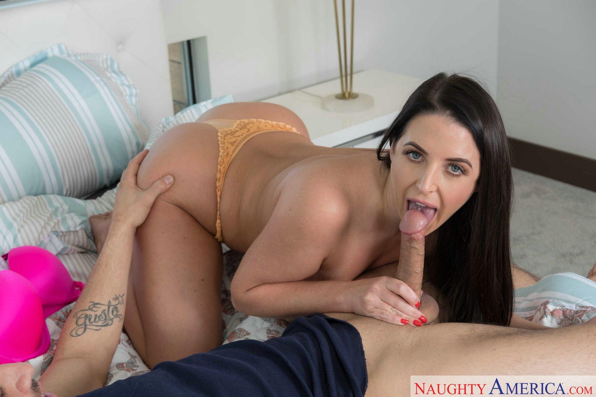 Angela white cum tits