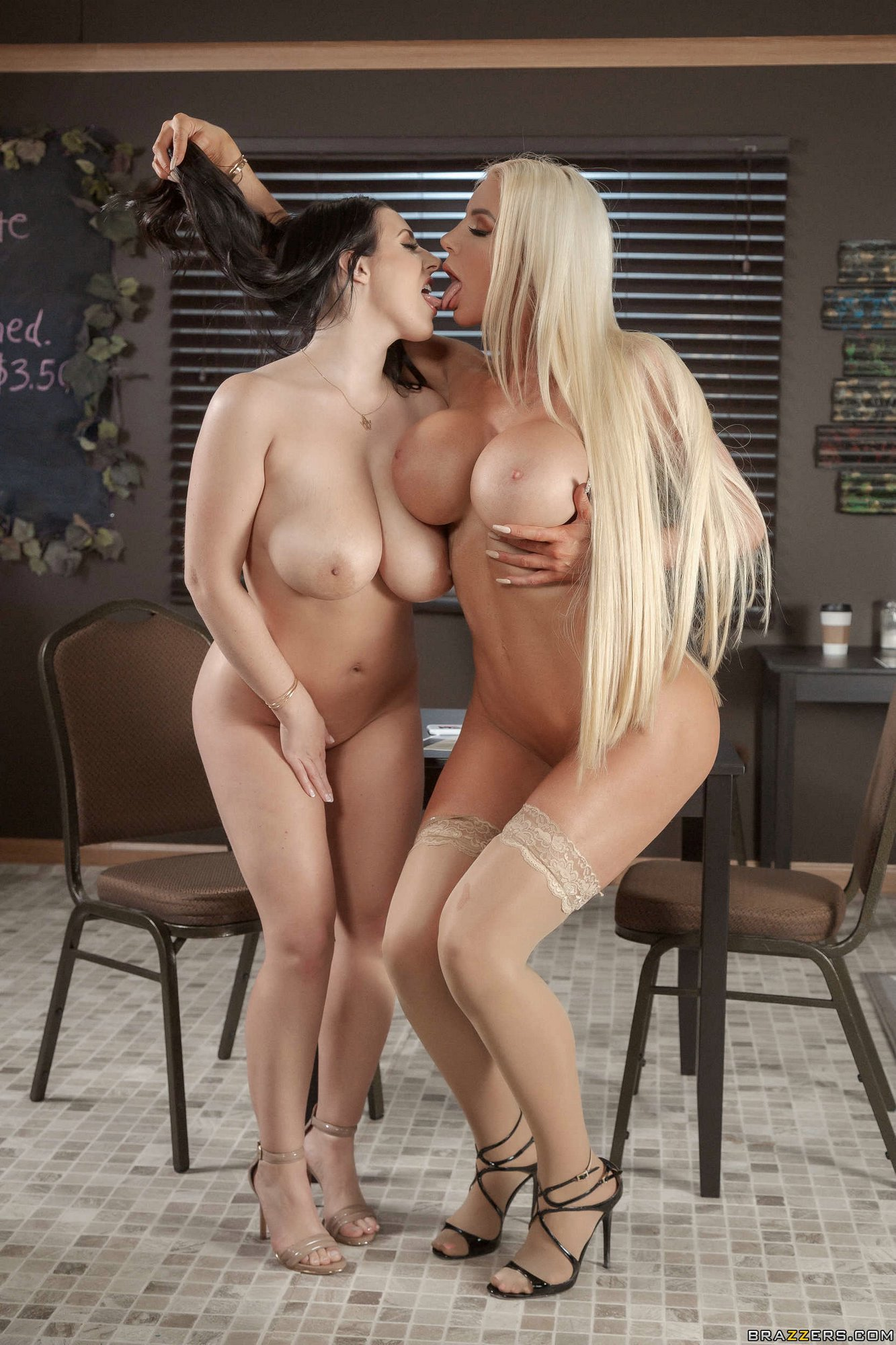 Angela White And Nicolette Shea Stripping And Exposing -6254