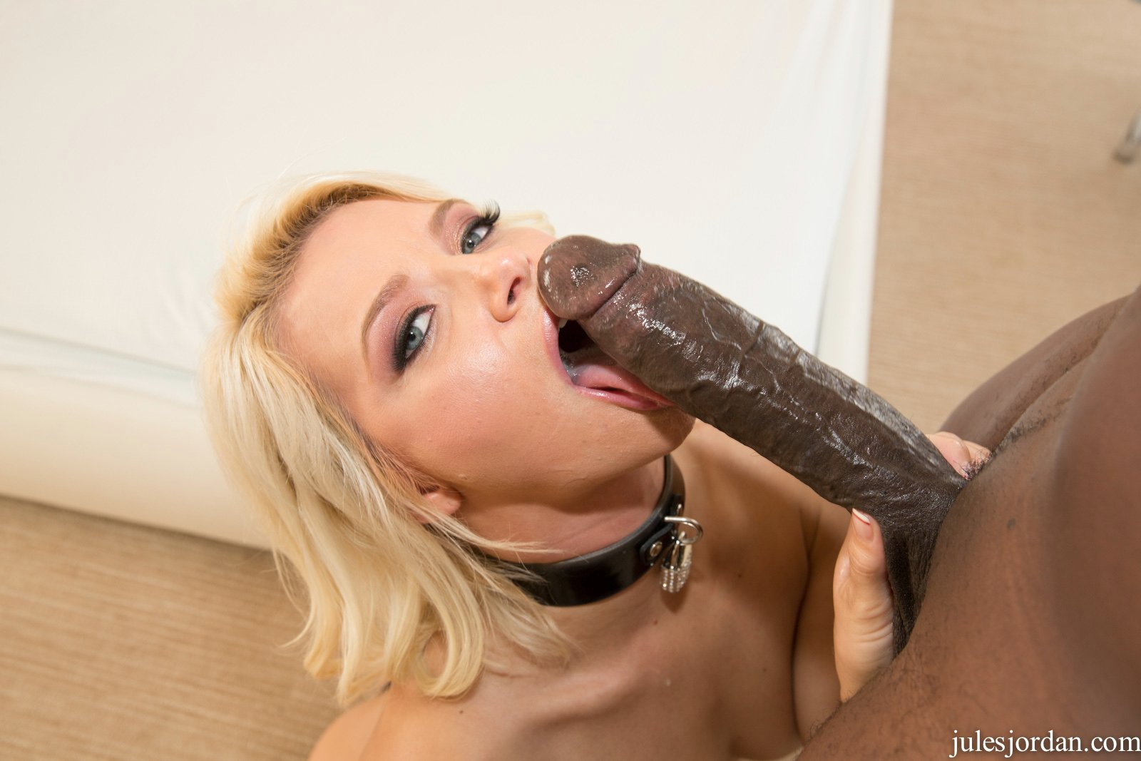 Blonde milf fucking a toy outdoors 6