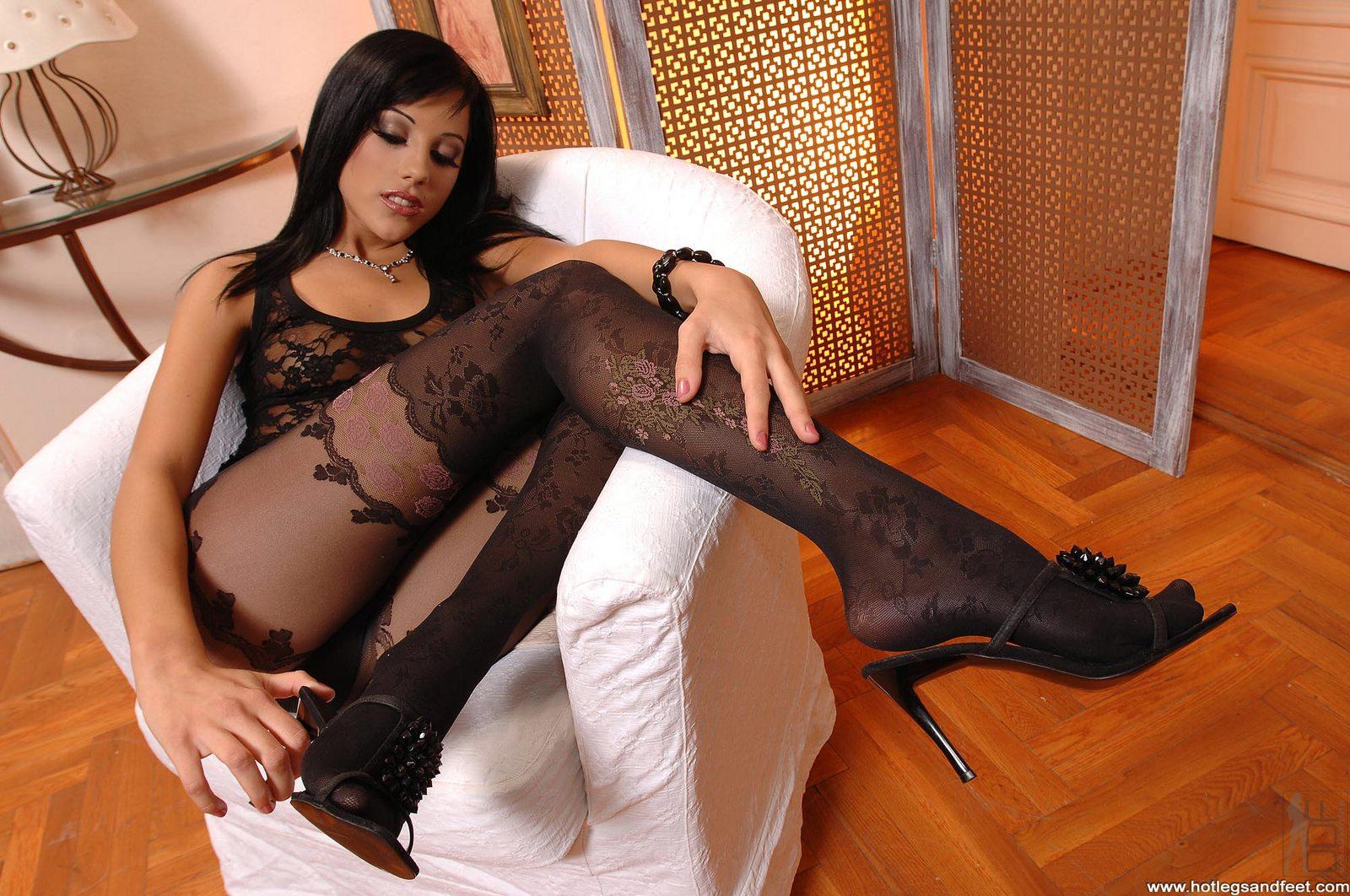 Pantyhose nylon sex