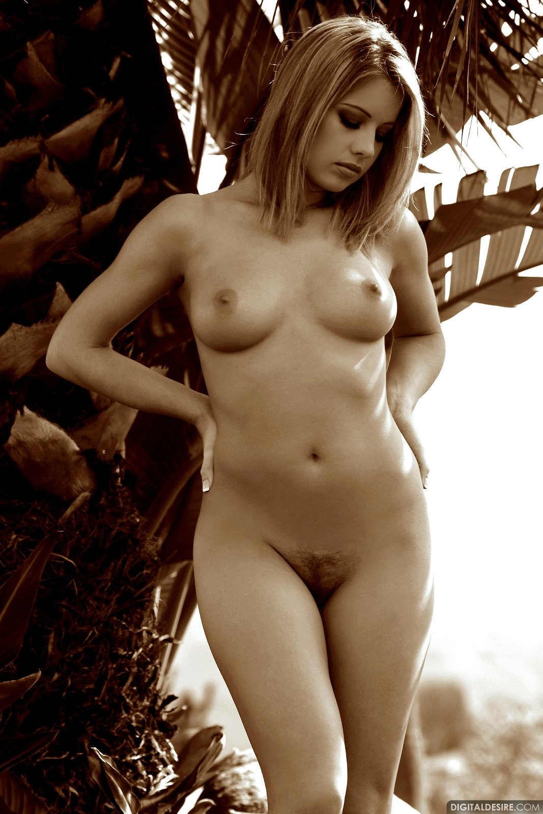 ashley brookes poses naked outdoor - my pornstar book