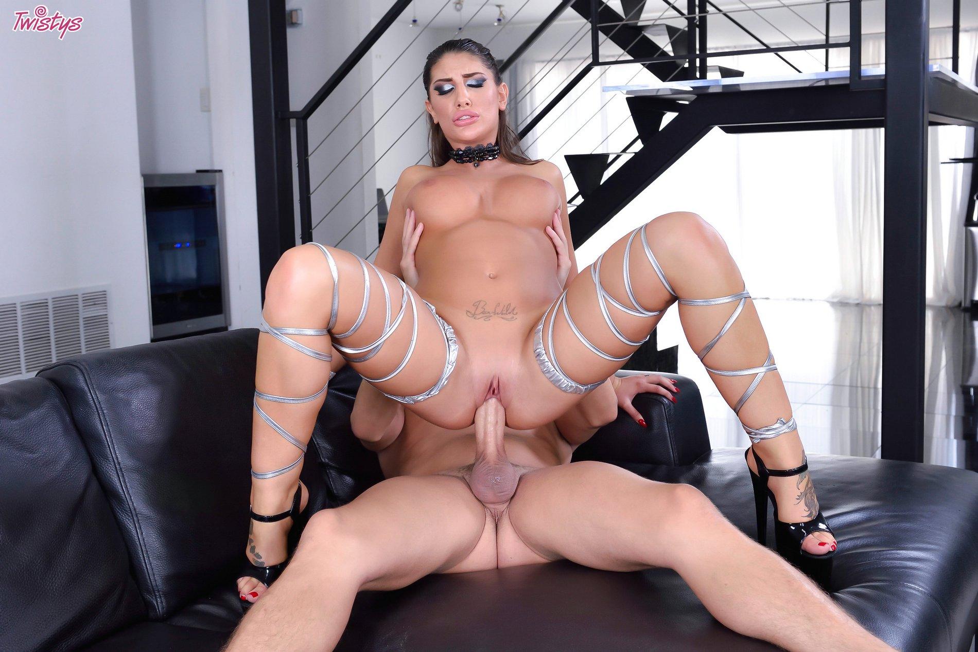 image Sexy milf gives foot wank and handjob to big throbbing cock