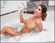 August Ames shows off her perfect body.