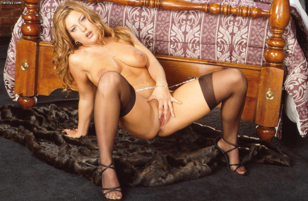 Avy Scott Feet avy scott in black stockings and shoes posing for your