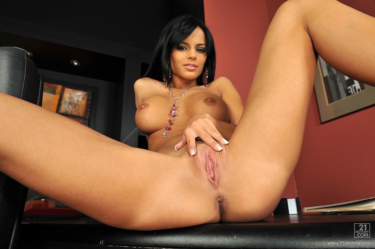 hot black angelika masturbating in the office - my pornstar book