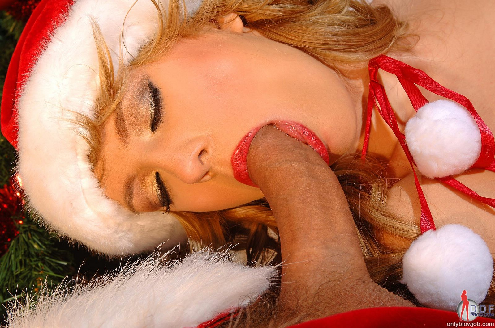 Asian christmas blowjob