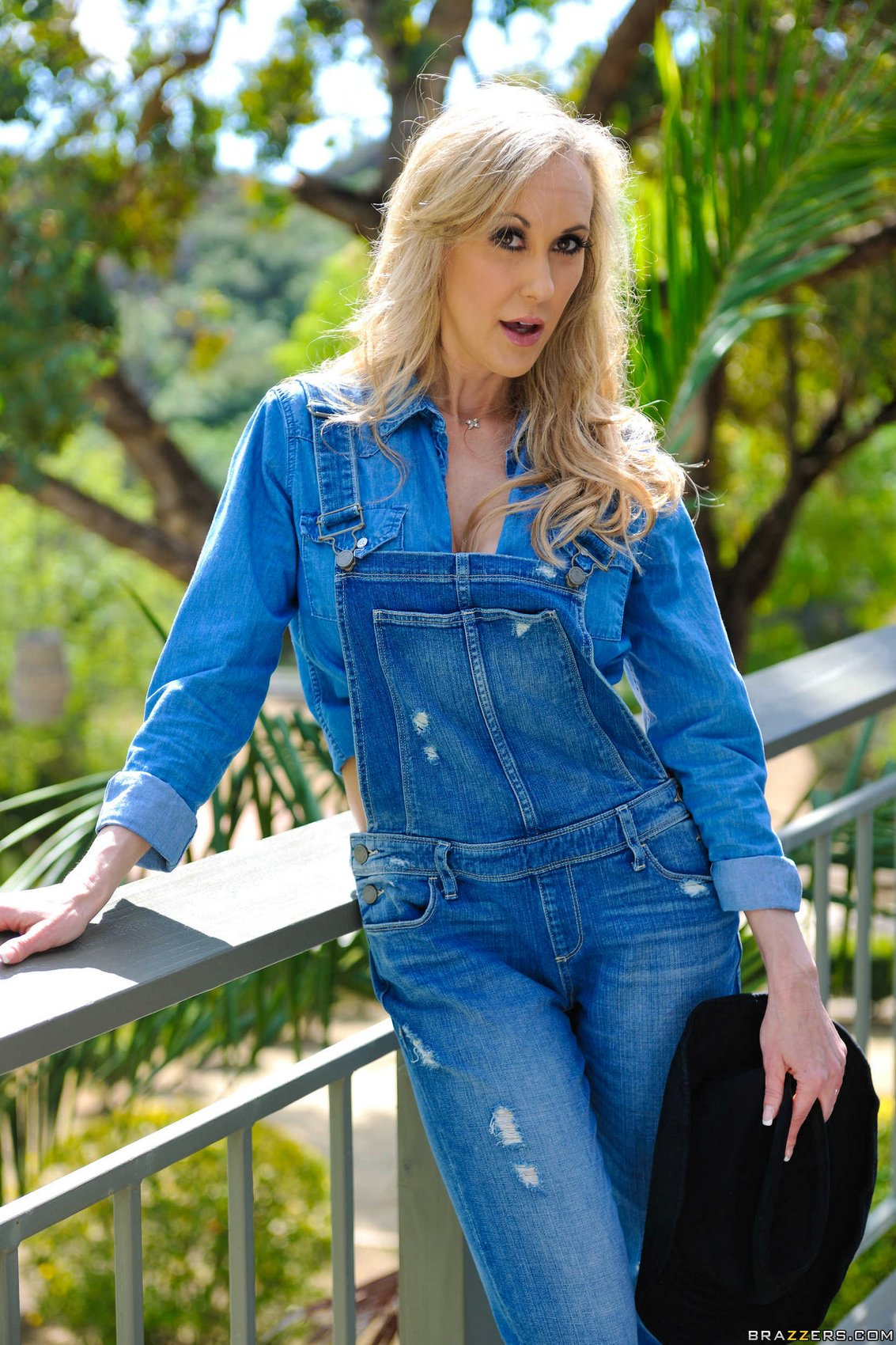 brandi love in sexy jeans and boots stripping outdoor my