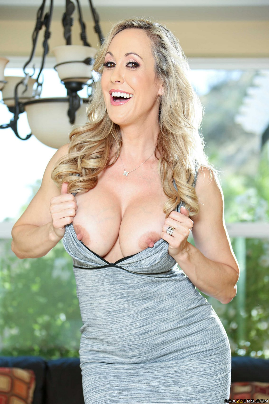 Brandi Love Sexy Dress And Heels Strips And Shows Her Hot -1205