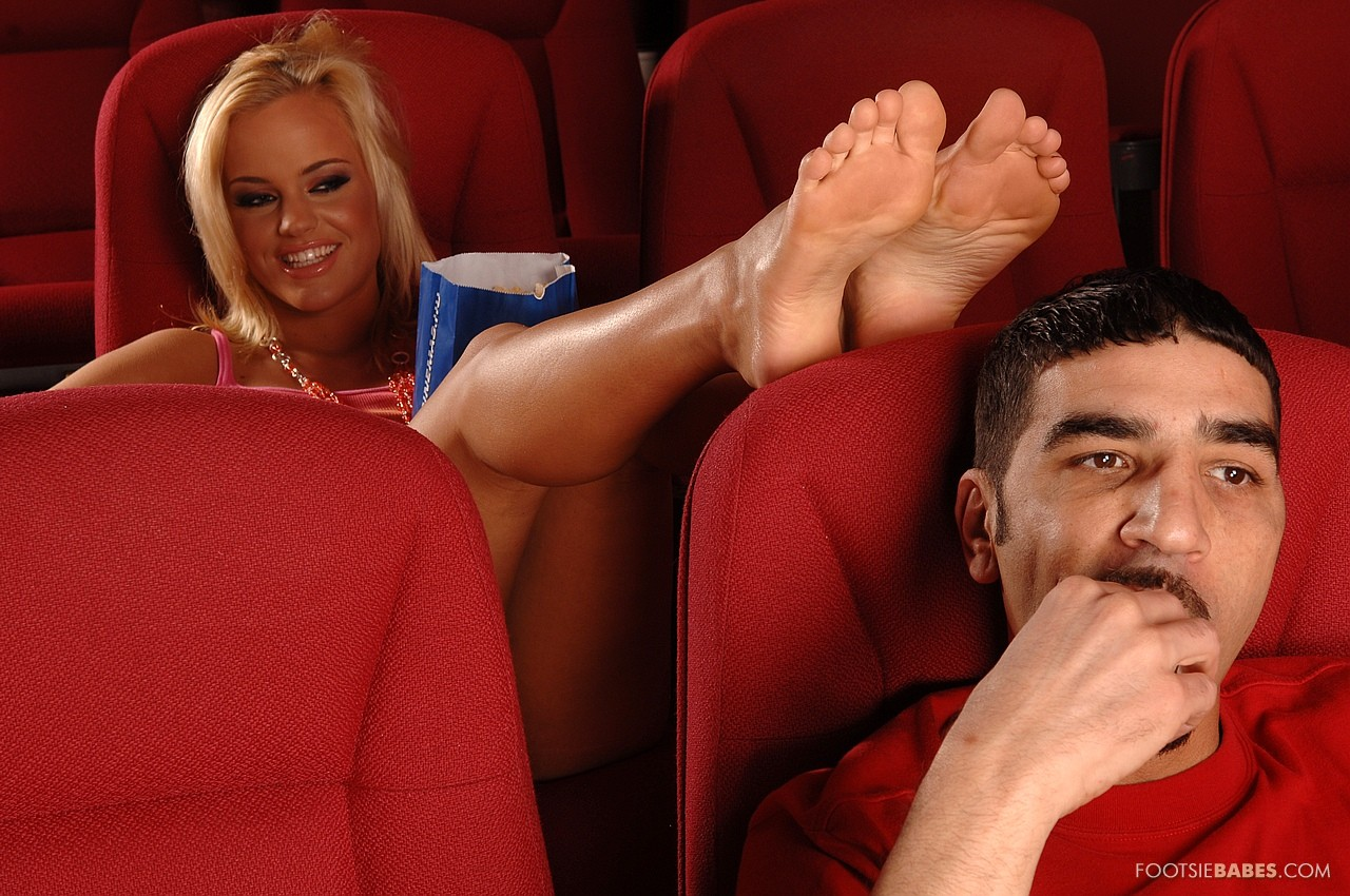 Hot blowjob and footjob from britney