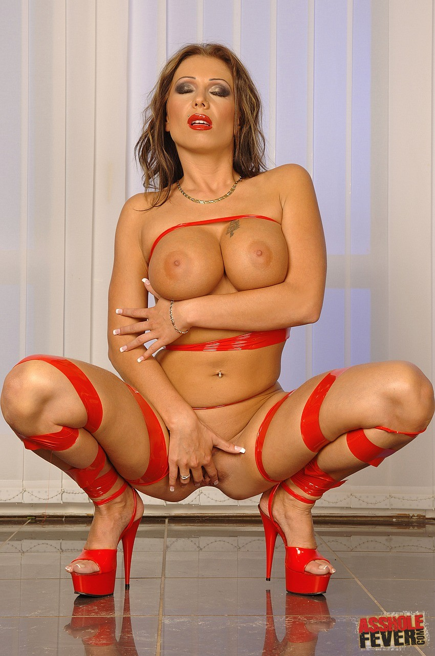 Candy Strong in sexy red shoes getting her ass rammed - My ...