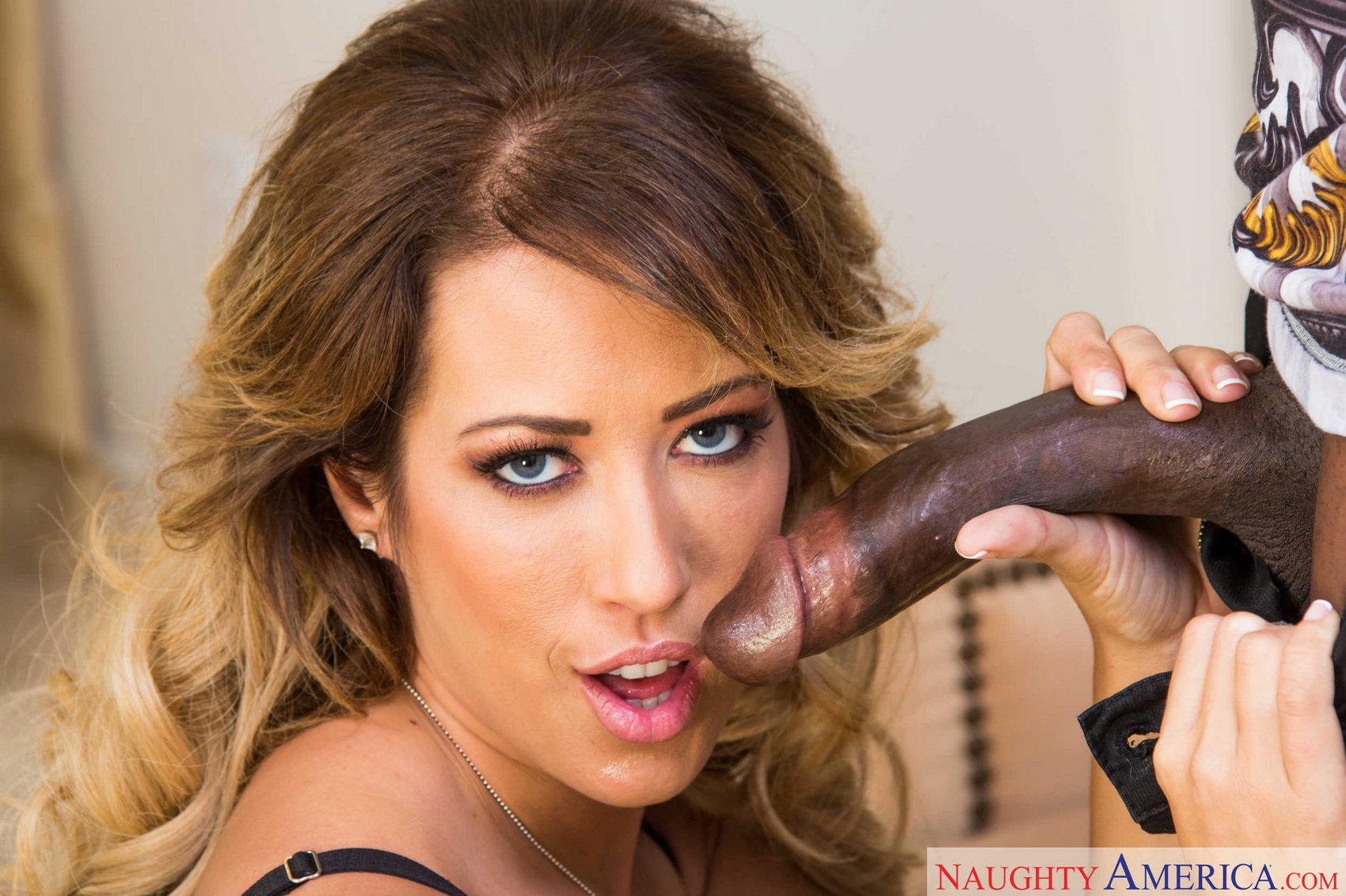 Black cock brunette