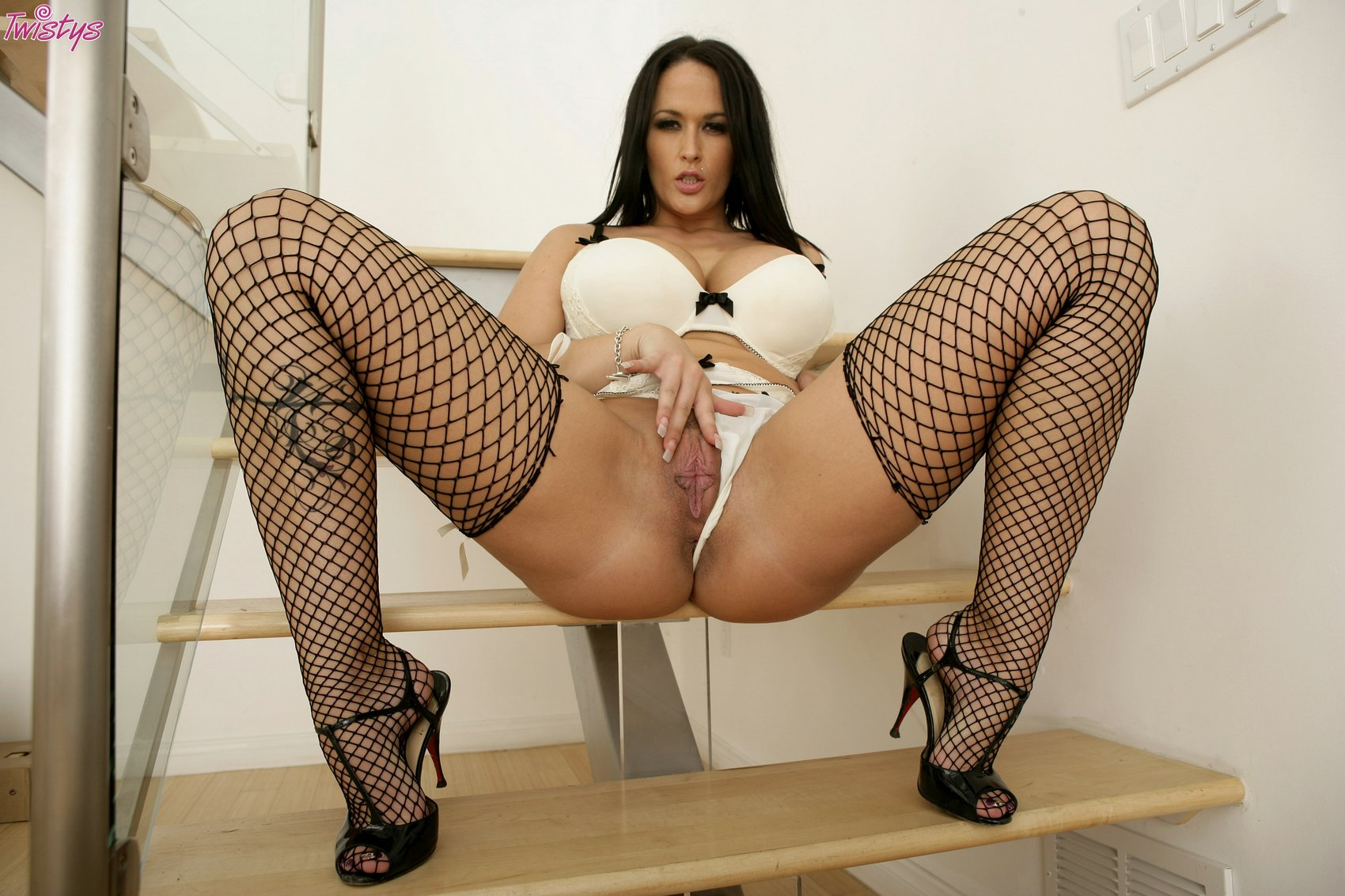 Carmella Bing In Fishnet Stockings And Sexy Shoes Posing -1751