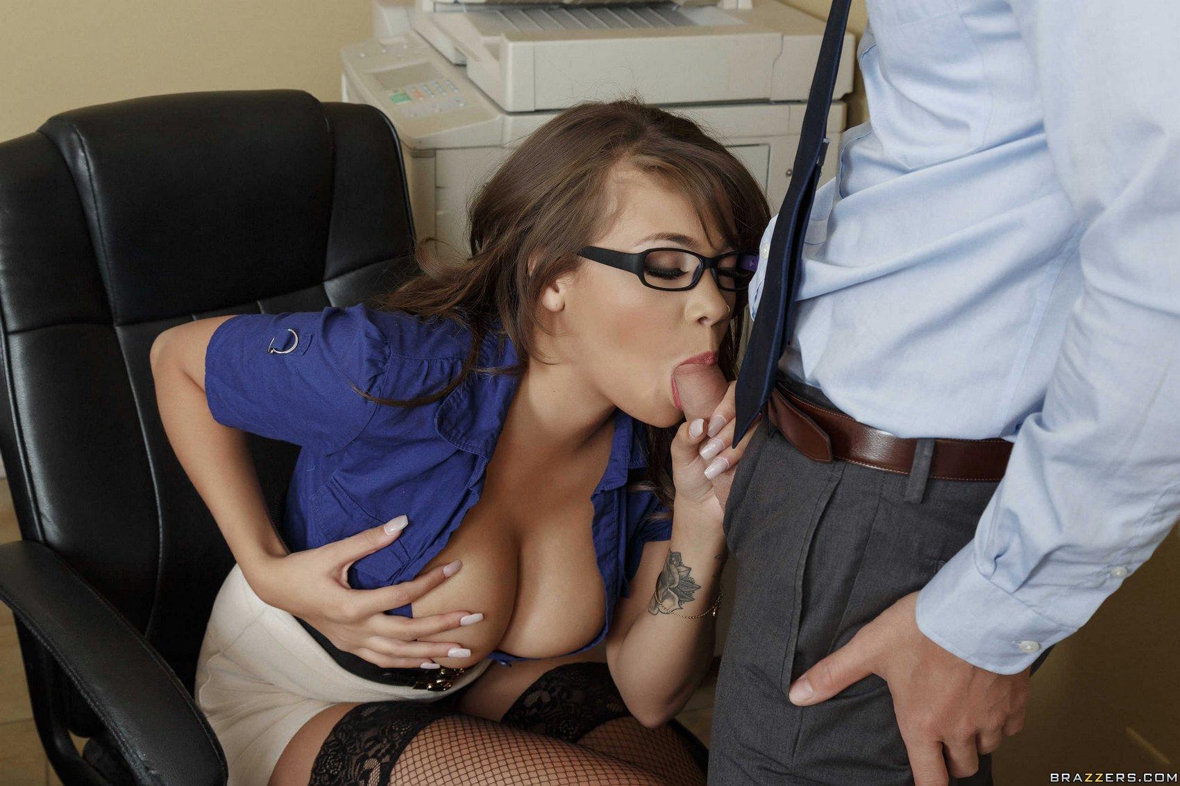 Blonde Secretary Big Tits
