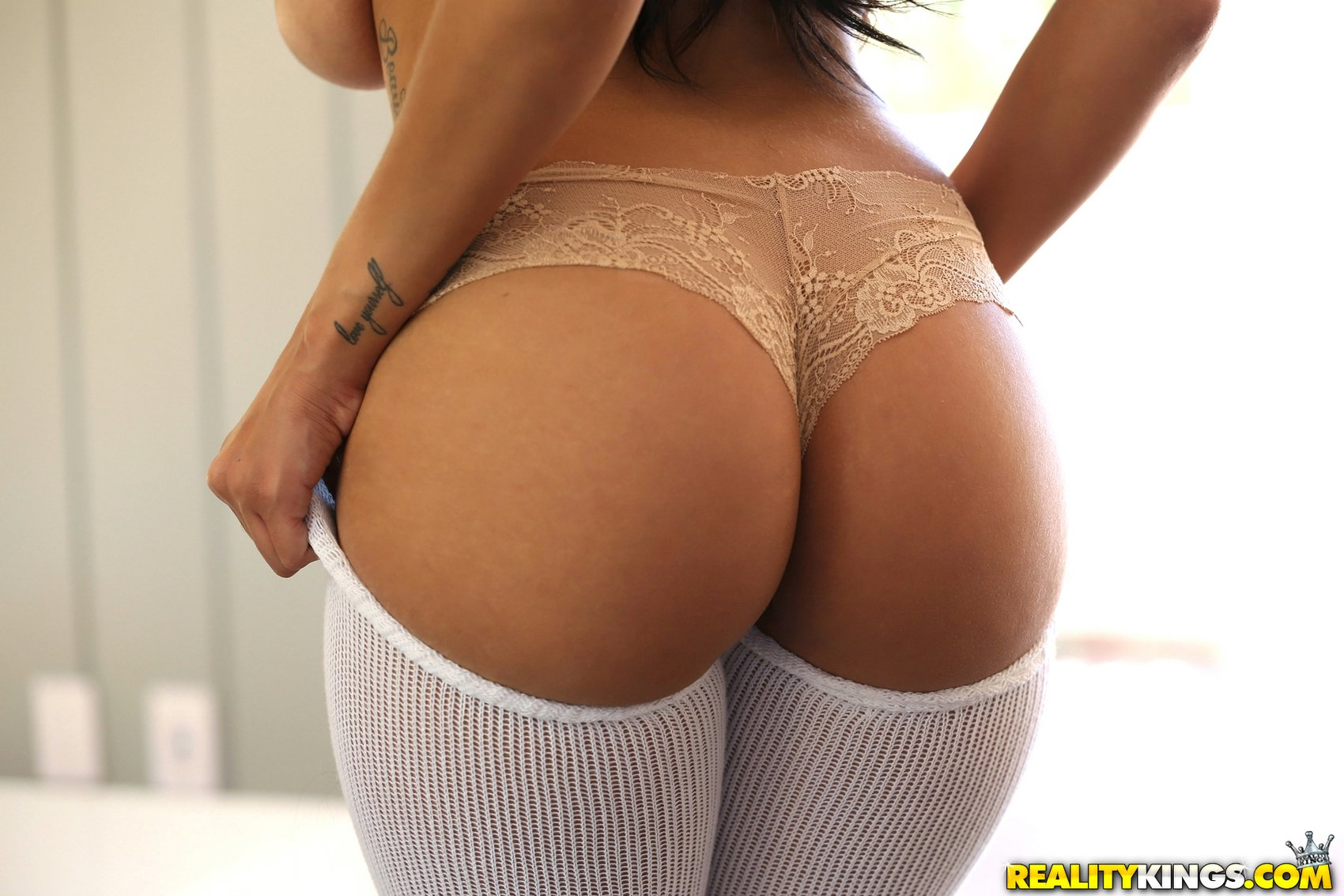 cassidy banks in white high socks shows her big boobs and