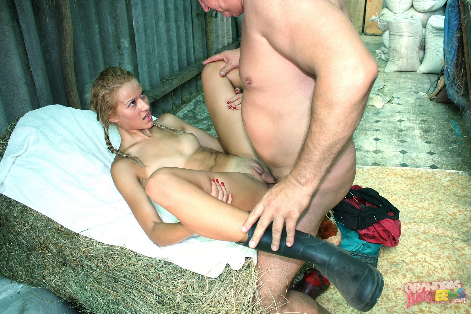 Farm nude My girl