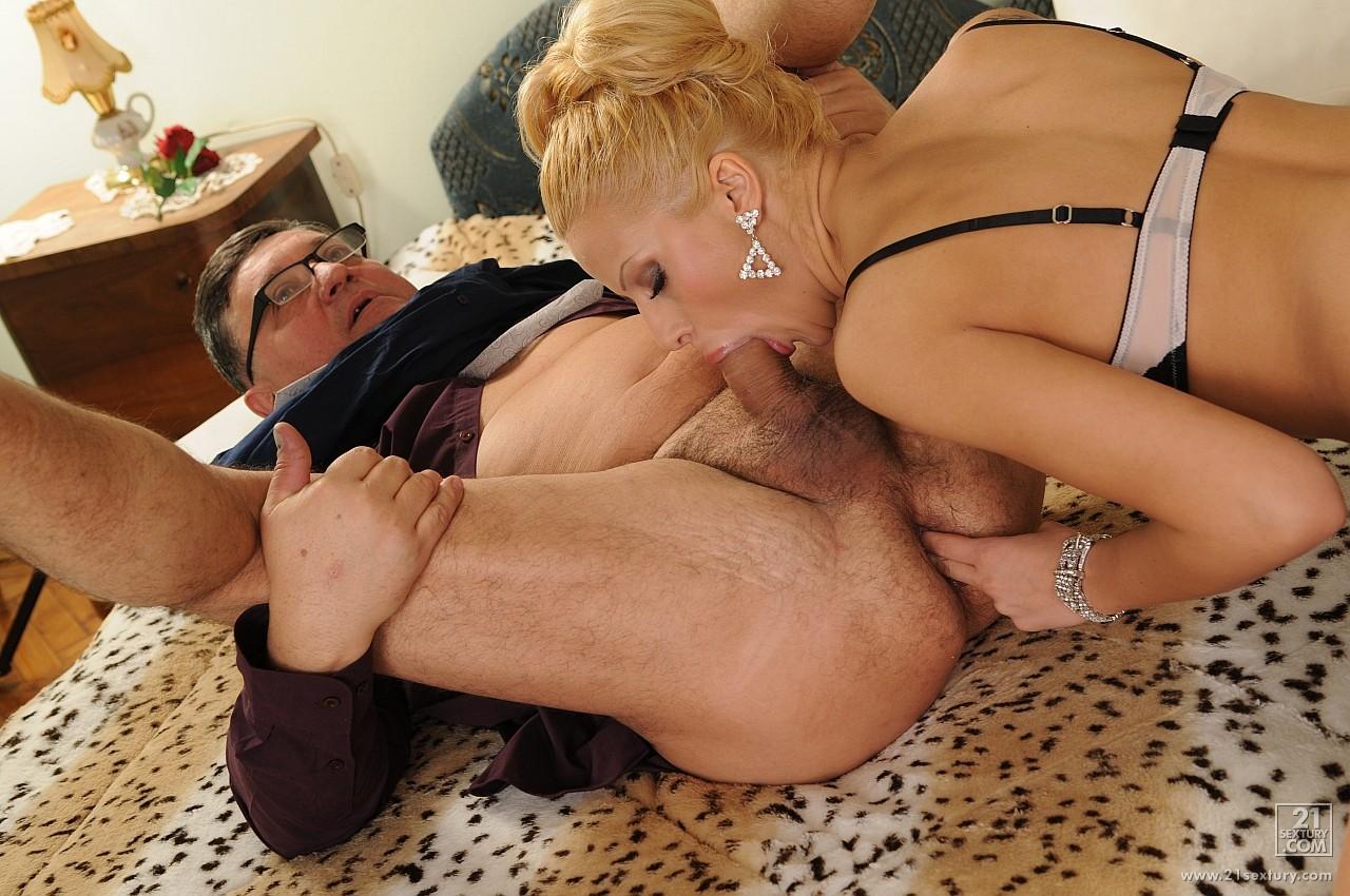 Girl Licks Old Mans Ass