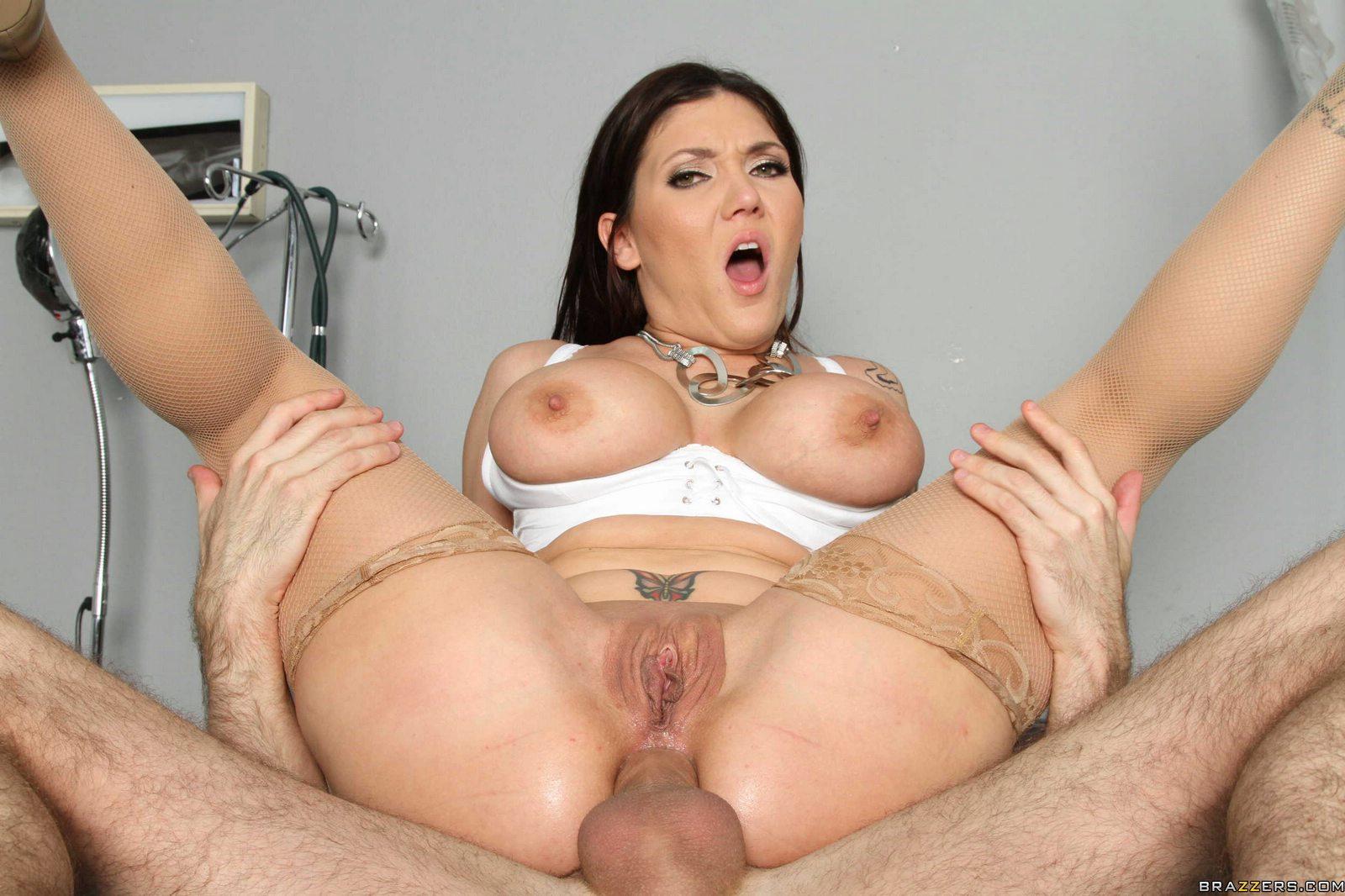 Hot pornstars gag on cock
