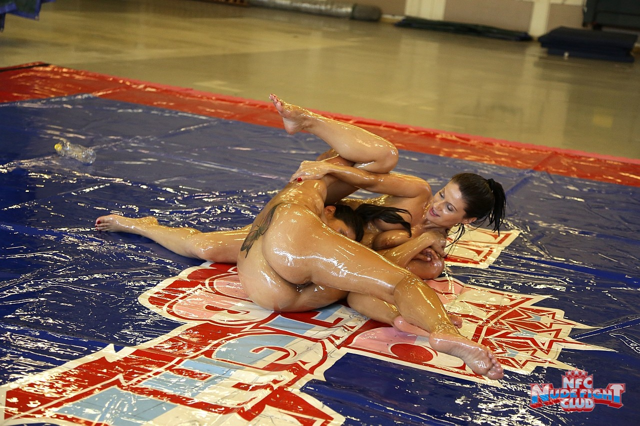 Naked oil wrestling babes, sucking cock candid gif