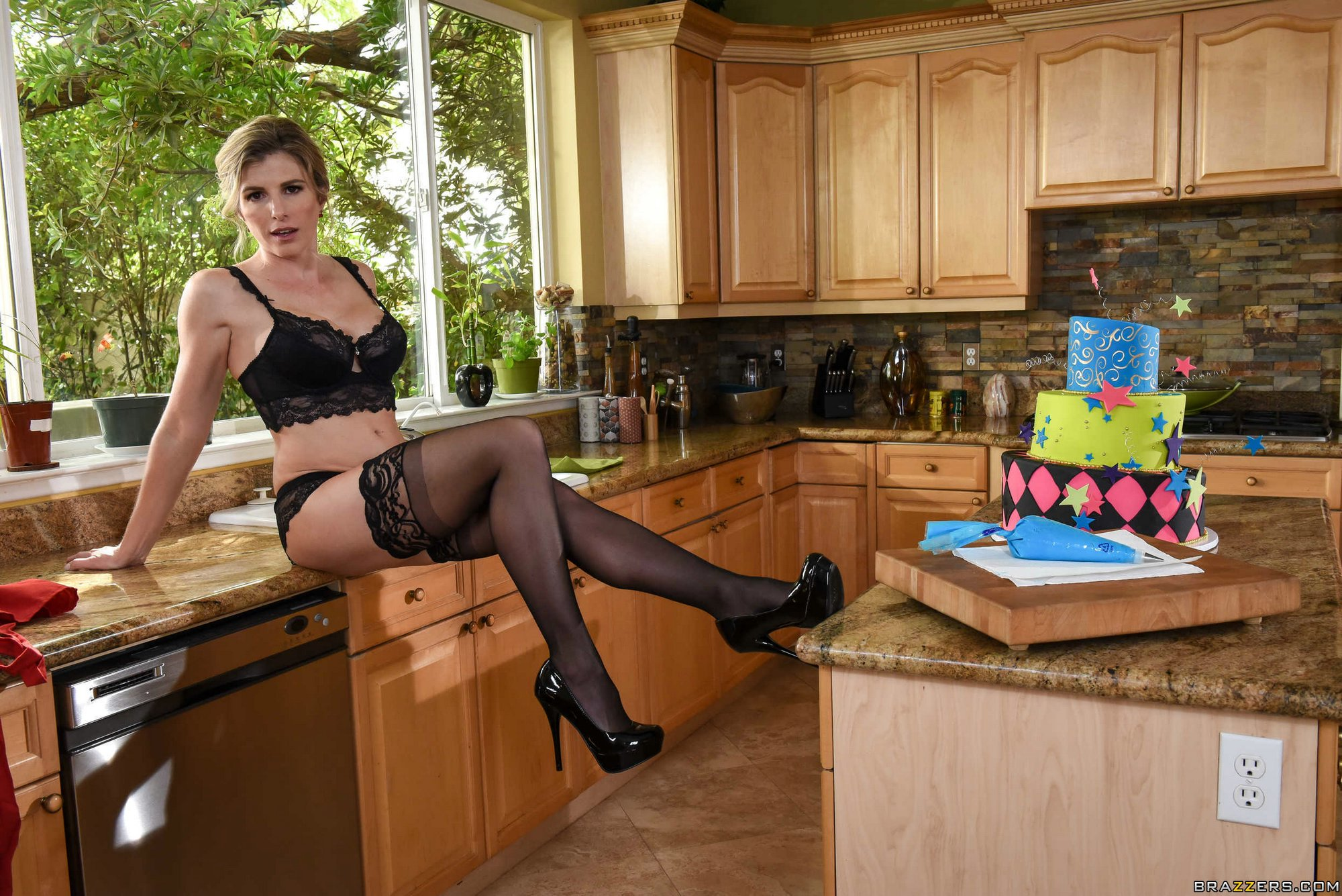 For Pantyhose housewife posing
