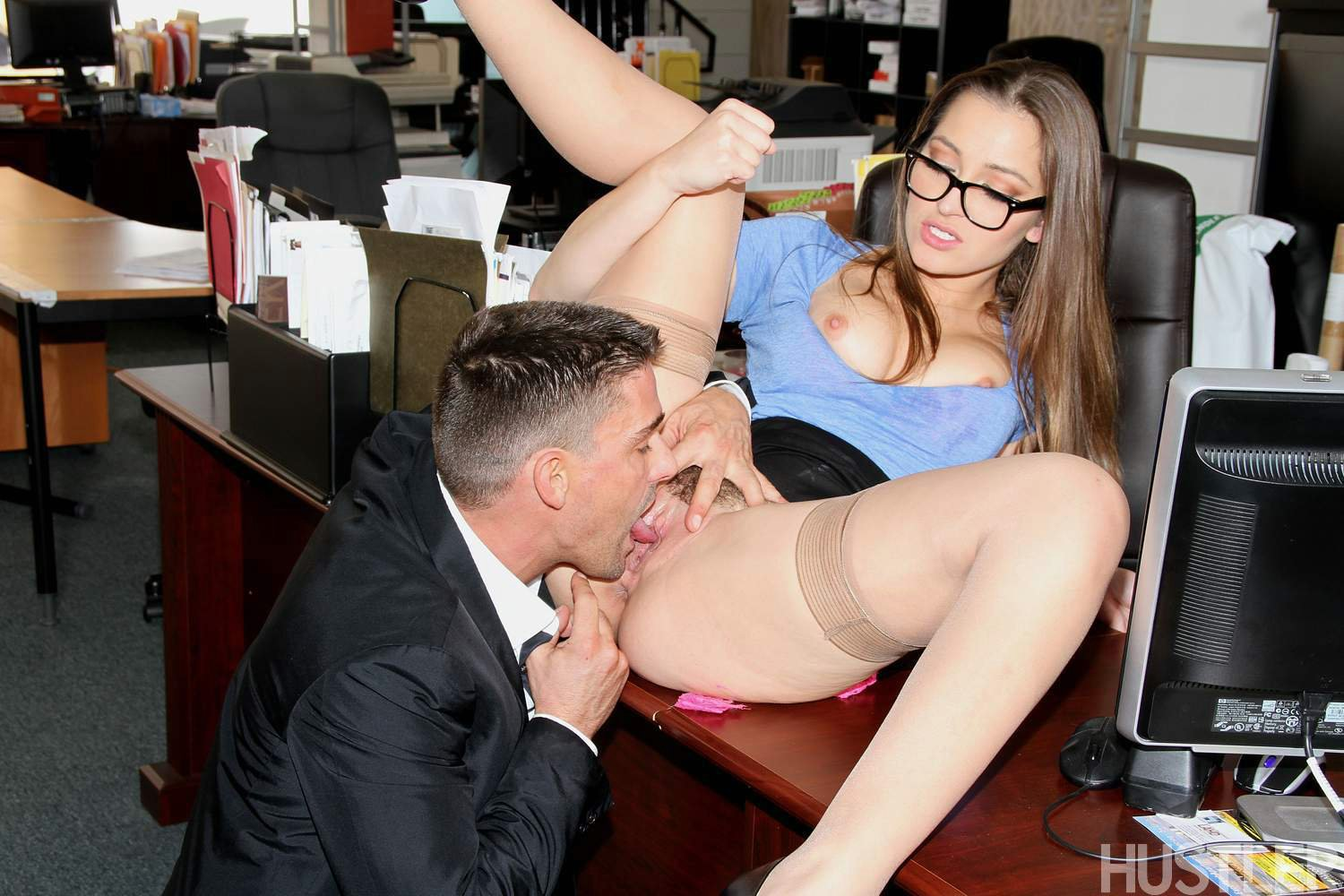 Hot secretary gets fucked