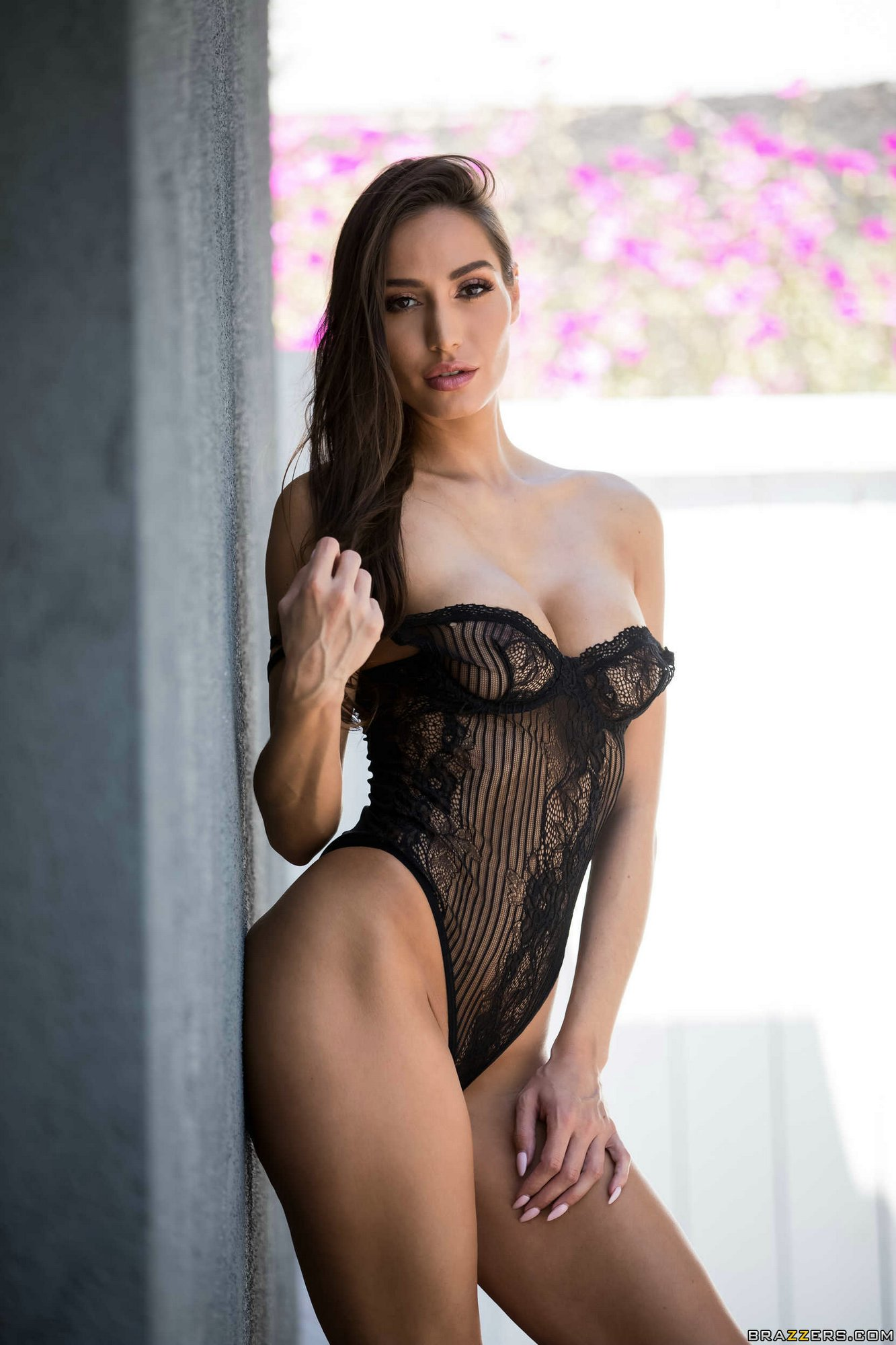 Gorgeous Brunette Desiree Dulce Strips Off Her Sexy -3460