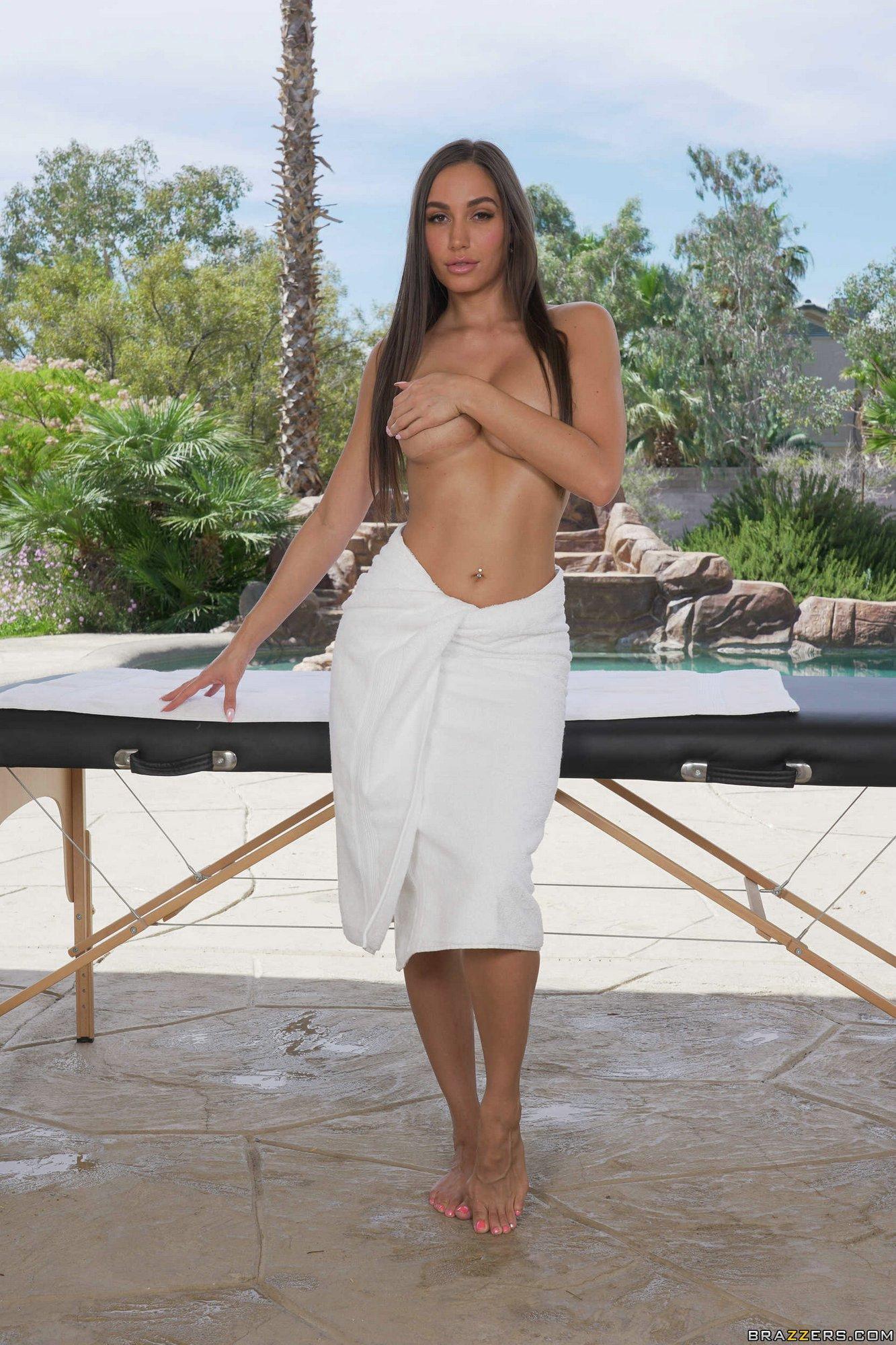 Hot Brunette Desiree Dulce Posing Nude Outdoor - My -6076