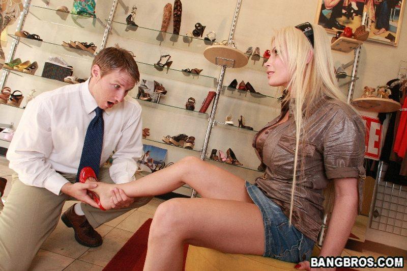 Shoe shop sex