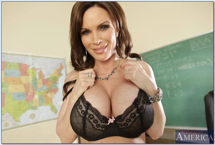 Sexy big tit teacher milf