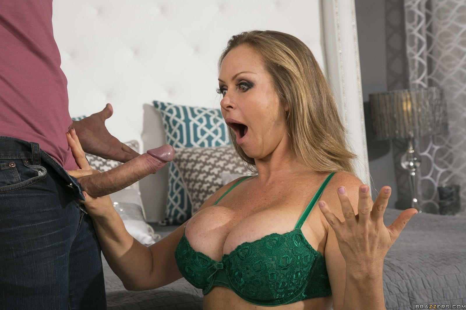 Milf fucked by big pornstar cock