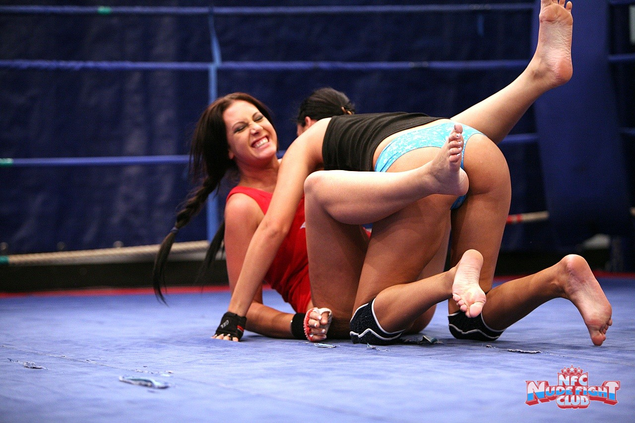 Wrestling match between Emma Butt, Diana Stewart and ...