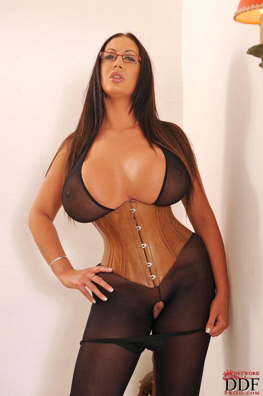 Big ass in corset