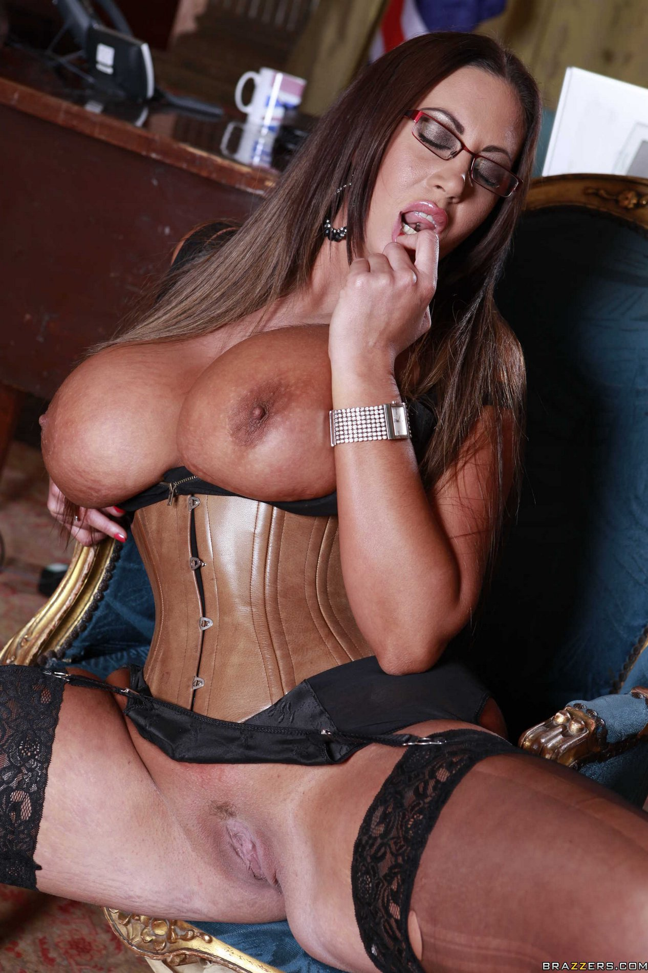 Milfs big butts in black stockings