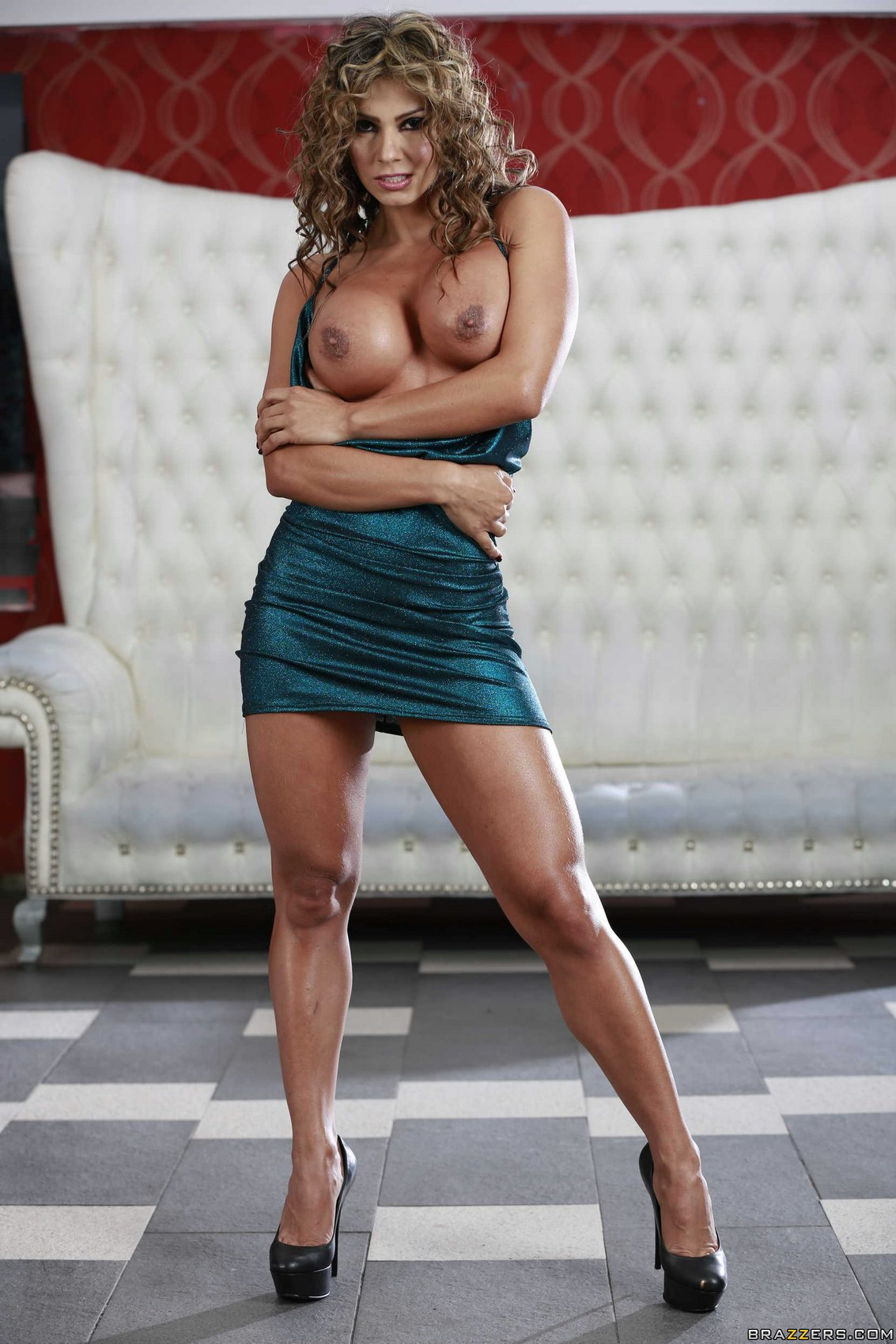 Esperanza Gomez in sexy dress and heels showing her hot ...
