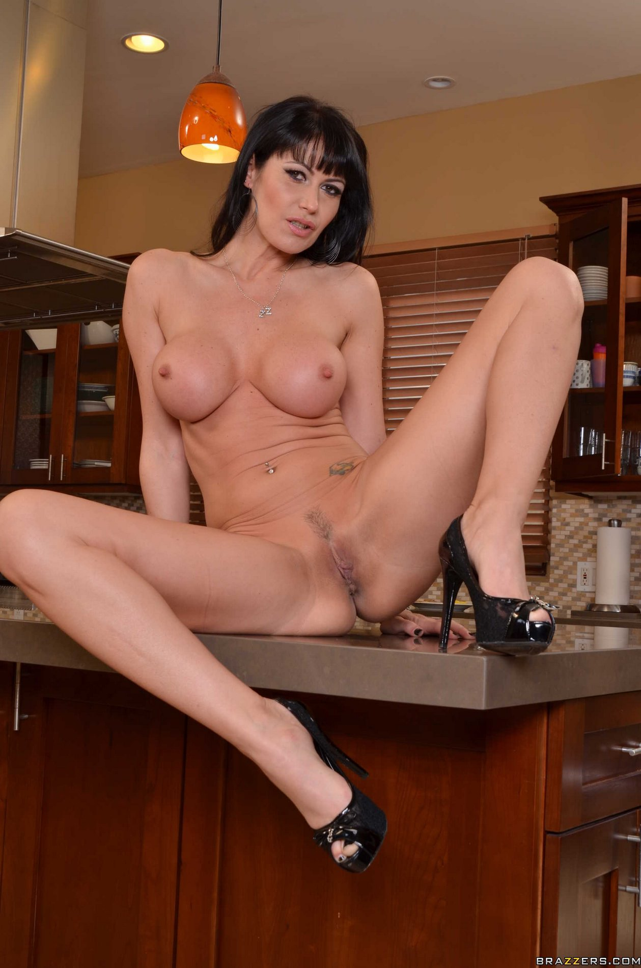 Your place Porn star kitchen scene simply
