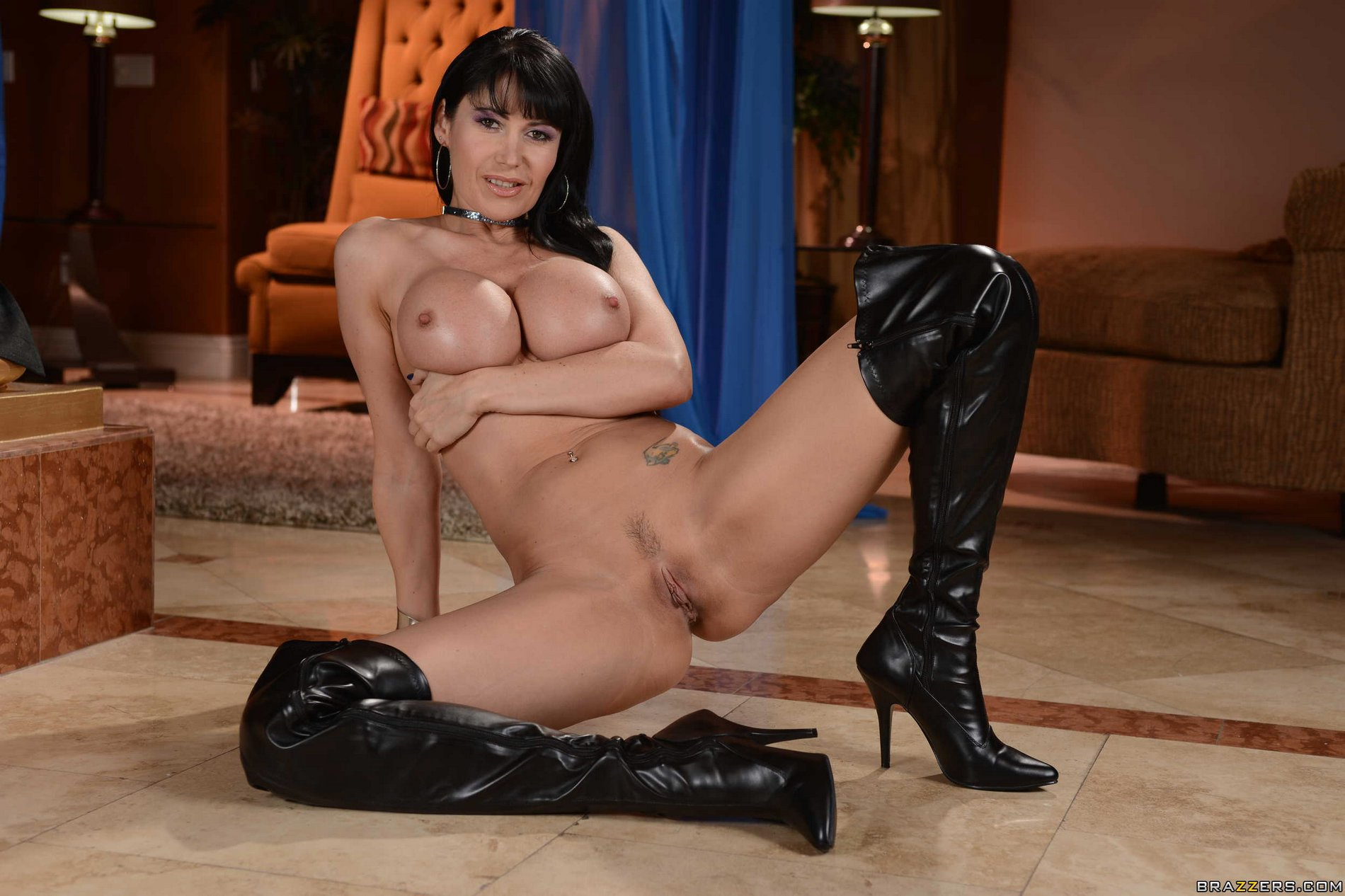 thigh high leather boots porn