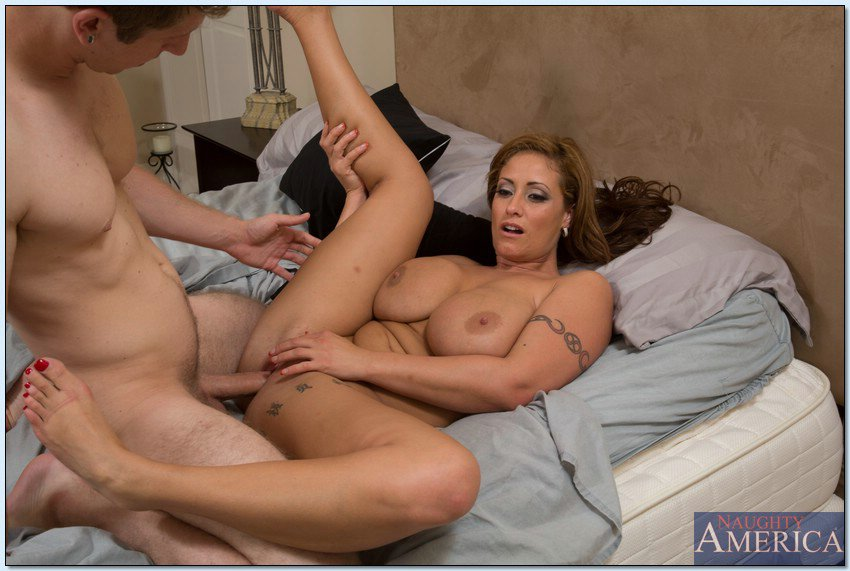 Sexy milf and lucky boy