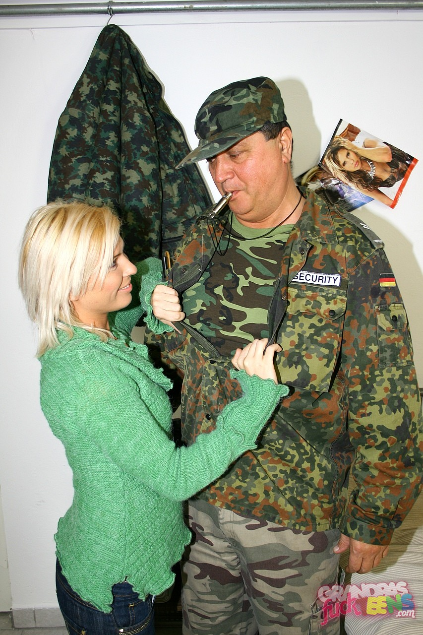 pornostars in uniform